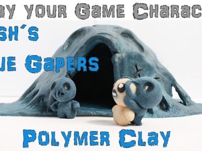 Sculpting Hush´s Blue Gapers (Polymer Clay)-The Binding of Isaac