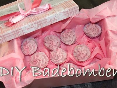 Cupcake Badebomben. Badekugeln selber herstellen - DIY Geschenke