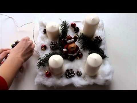 DIY Adventskranz einfach & schnell   1.Advent