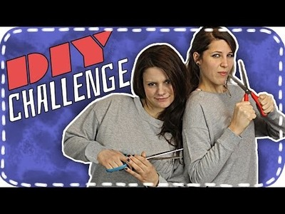 ✂ DIY-Challenge ✂ | Esther VS Lisa | Style your Sweatshirt