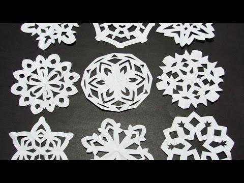 Lustige Papierschneeflocken Basteln - DIY Crafts - Guidecentral