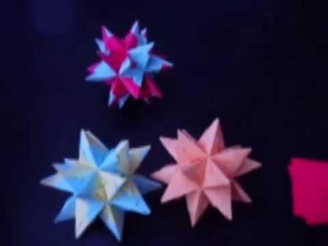 3D Sterne Bastelanleitung (Origamifaltkunst)