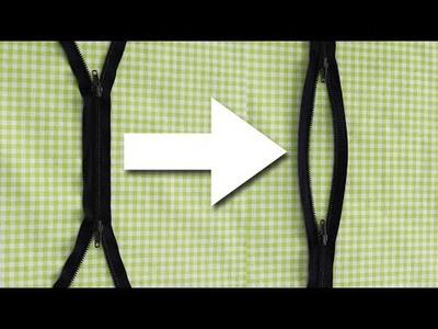 Reisverschluss umarbeiten - aus X wird O - für alle Deine DIY Taschen