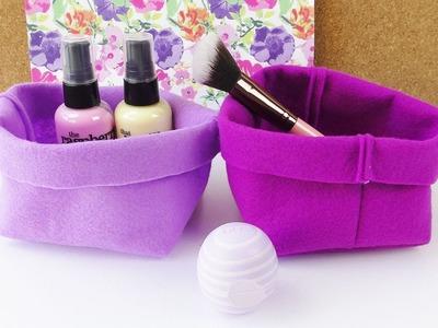 DIY Aufbewahrung aus Stoff | einfaches Körbchen fürs Bad & Geschenkverpackung selber nähen