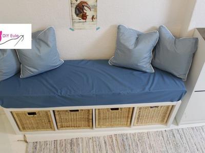 Sitzbank mit Bezug und Kissen. Ikea Hack - DIY Eule