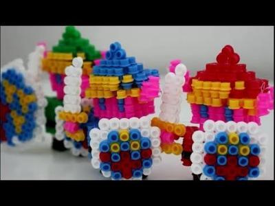 DIY: 3D Link aus IKEA Bügelperlen ♥ In grün, rot und blau ♥ mit Überraschung!