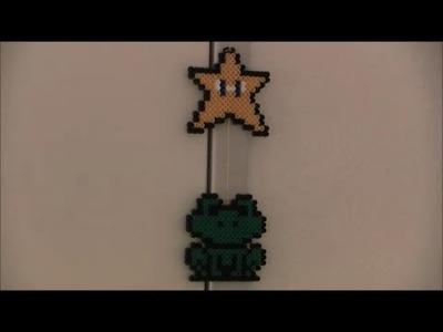 DIY: Nintendo Aufhänger Mario Frosch und Stern basteln * Steckperlen Bügelperlen Hama *