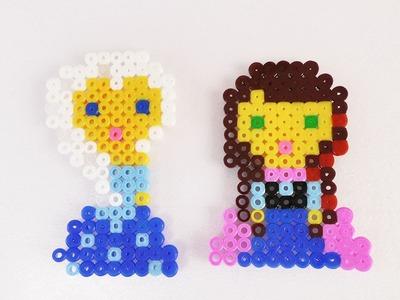 Eisprinzessin Anna aus Bügelperlen   Eiskönigin Elsas kleine Schwester   Disney Figuren