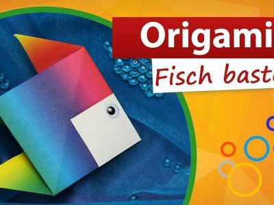 Origami Fisch falten ✓ ❶ Min Video ▶ Fisch basteln mit Kindern - trendmarkt24 Bastelideen