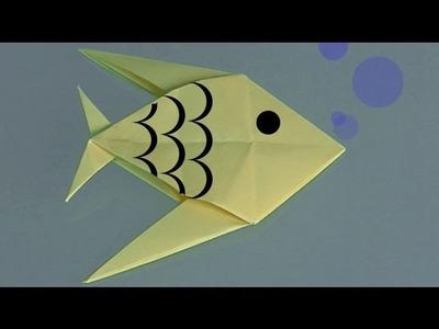 Origami Fisch. Origami Papierfaltkunst lerner