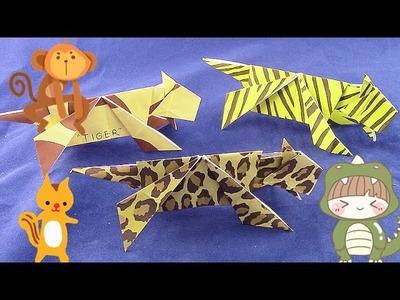 【Origami Schulstunde】Wie man ein Tiger falten? 01332+de