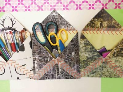 Aufbewahrung aus Papier & Washitape selber machen | Einfach praktisch zum Aufhängen | Raumdeko DIY