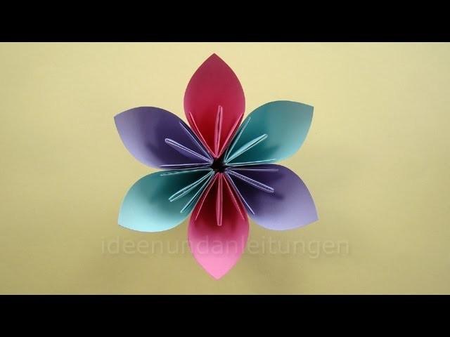 Blumen Basteln Mit Papier Basteln Mit Kindern Einfache Origami