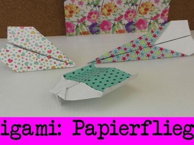 Drei Papierflieger Anleitungen | einfaches Origami | Papierflugzeuge | drei coole Varianten