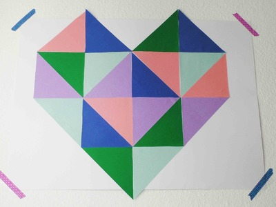 Room Decoration Herzchen Poster | Tolles Riesenposter selbst gestalten | super einfach