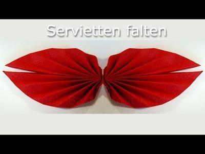 Servietten falten einfach: Fächer Anleitung - leichte Tischdeko