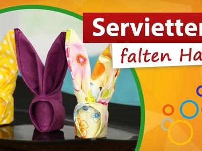 Servietten falten Hase ♥ Ostertisch dekorieren! - trendmarkt24
