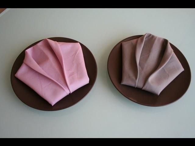 servietten falten smoking napkin folding smoking. Black Bedroom Furniture Sets. Home Design Ideas