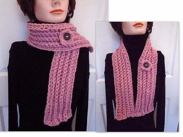 Easiest Crochet scarf - Skinny Scarf - unisex scarf - crochet pattern