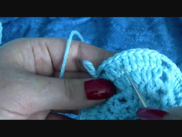 Häkeln Baby Haube blau. crochet baby hat blue