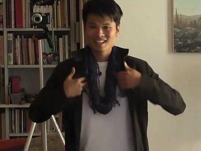 Nouer un foulard cheich mode homme