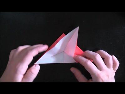 Fliegender Origami-Vogel