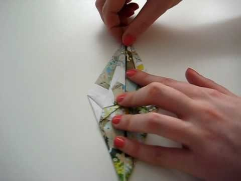Origami Kranich Faltanleitung