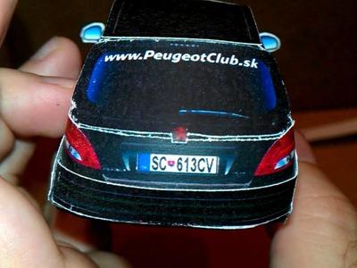 Papercraft Peugeot 207 - BlackBird