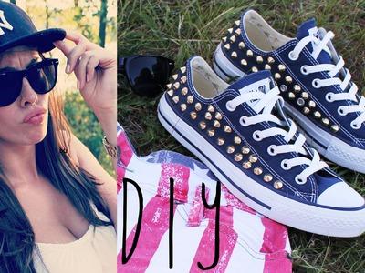 DIY: Nieten Converse (Chucks) selber machen. Studded Converse Chuck Taylors