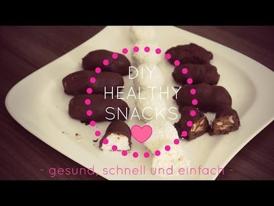 3 DIY HEALTHY SNACKS - BOUNTY, SNICKERS, RAFFAELLO ❤ Diie Jule Oktober 2015