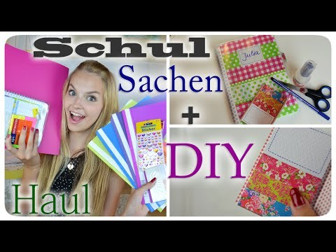 BACK TO SCHOOL SUPPLIES HAUL + DIY Hausaufgabenheft. Organizer. Planer