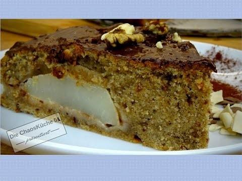Birnen Schokoladen Kuchen; DIY, EINFACH LECKER SCHNELL