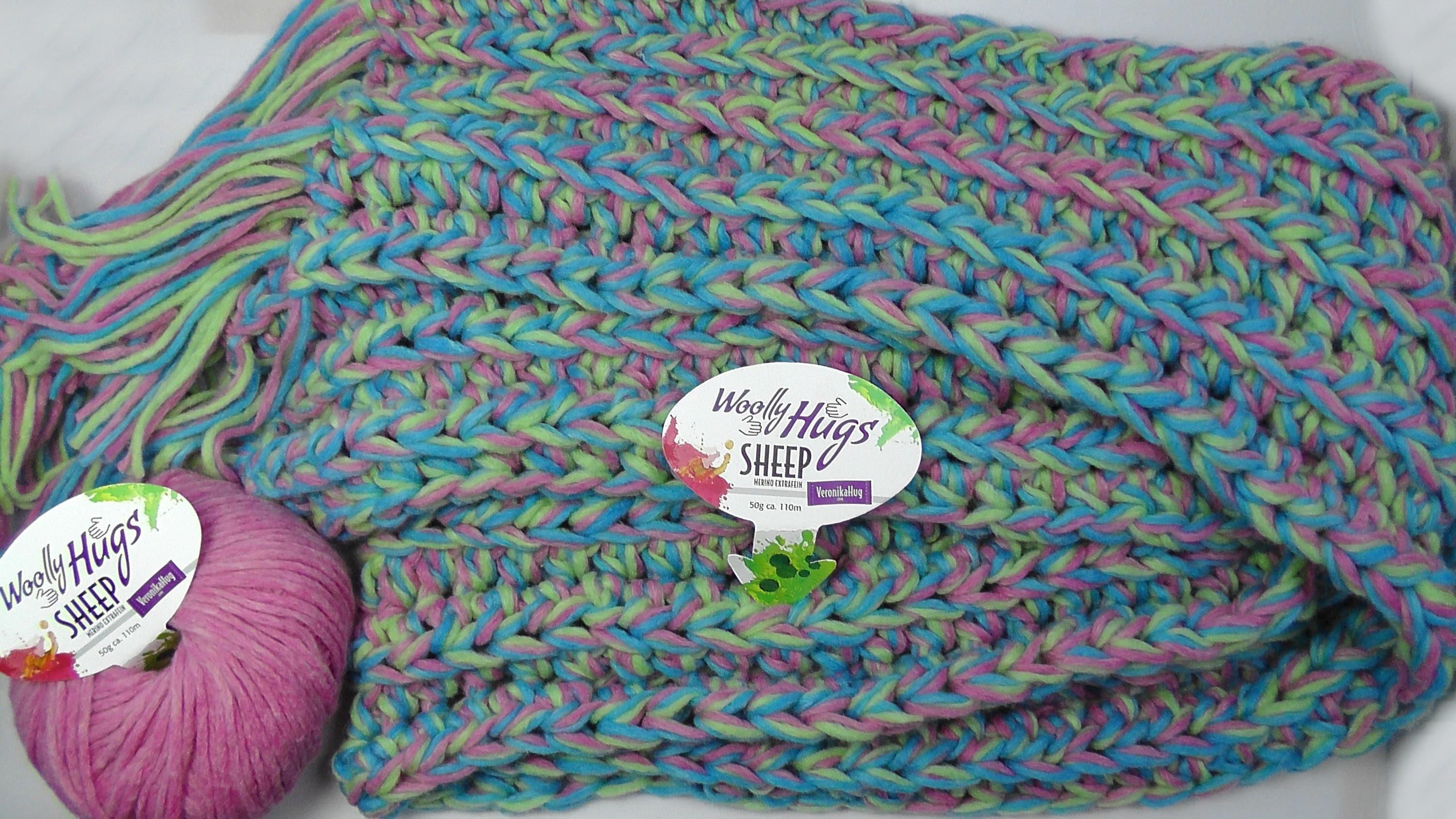 Häkeln - Schal oder Loop BELFAST - Patentmuster -  Woolly Hugs SHEEP - Veronika Hug