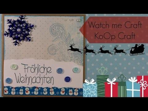 [KoOp Craft] Watch me Craft - Karte aus 7 Materialien