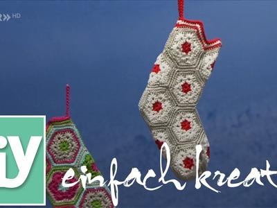 Socke für den Nikolaustag häkeln | DIY einfach kreativ
