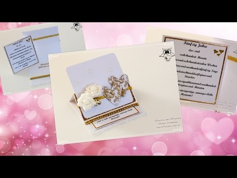[Watch me Craft] Easelcard zur goldenen Hochzeit (Auftragsarbeit)