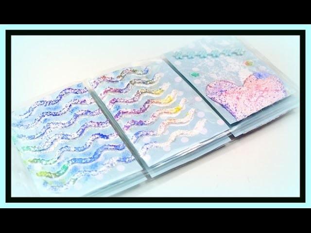 Pocket Letters mit Strukturpaste und Regenbogen Stempelkissen   DIY Bastelideen