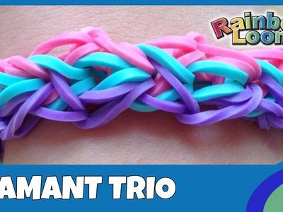 Rainbow Loom - Diamant Trio Armband - deutsche Anleitung