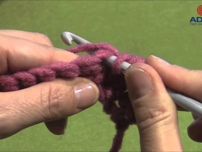 Adriafil crochet tutorial: mezza maglia alta.half treble crochet.demi-bride.halbes Stäbchen