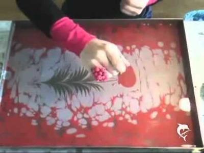 Ebru Kunst Ebru Malerei Water Marbling Berlin - Uralte Kunst des Malens auf dem Wasser