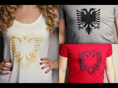 DIY T-Shirt selbst bedrucken mit Shqiponje Muster
