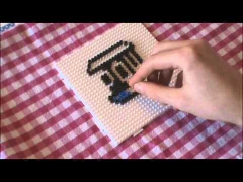 Bügelperlen Vorlage #12 POW Block perler bead #12 POW Box