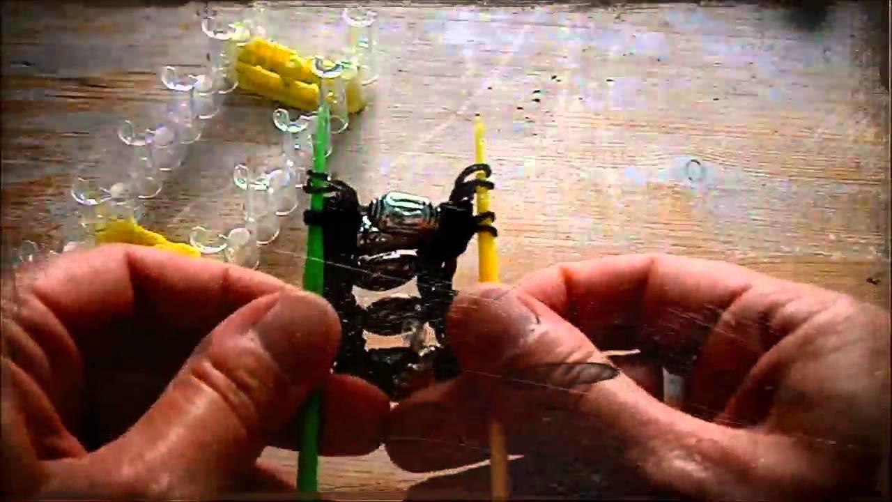 Nederlands Rainbow Loom stoere armband met kralen lange versie