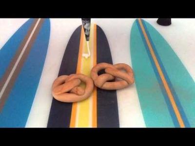 Polymer clay pretzels