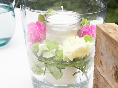 DIY | bloomiges Kerzenglas für kühlere Sommerabende
