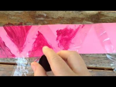 DIY zig zag cardboard paper pattern tutorial