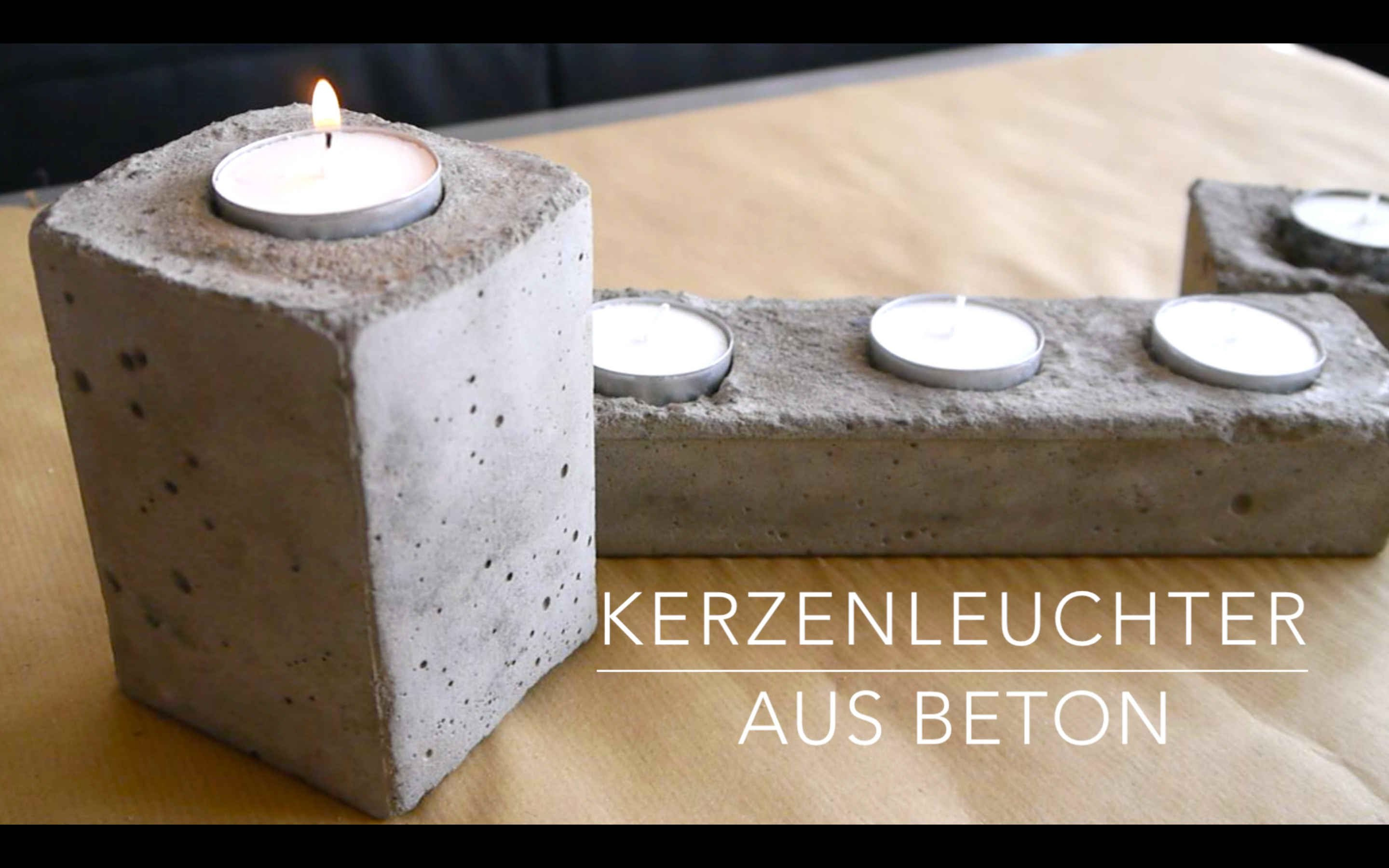 diy beton kerzenst nder anleitung kinderleicht. Black Bedroom Furniture Sets. Home Design Ideas
