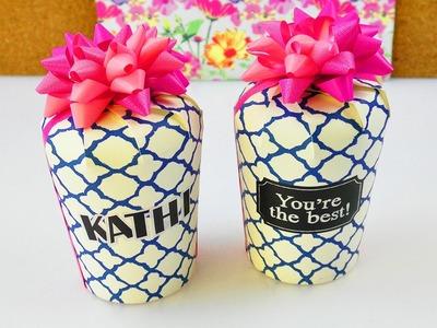 Super Geschenk Box aus Pappbechern | DIY Geschenk Verpackung | kreative Geschenk Idee | Geburtstag