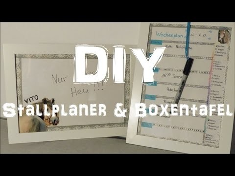 [DIY] Stallplaner & Boxentafel selber machen | unter 5€!