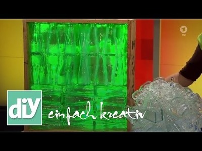 Kugel-Bodenleuchte aus Parfümfläschchen | DIY einfach kreativ